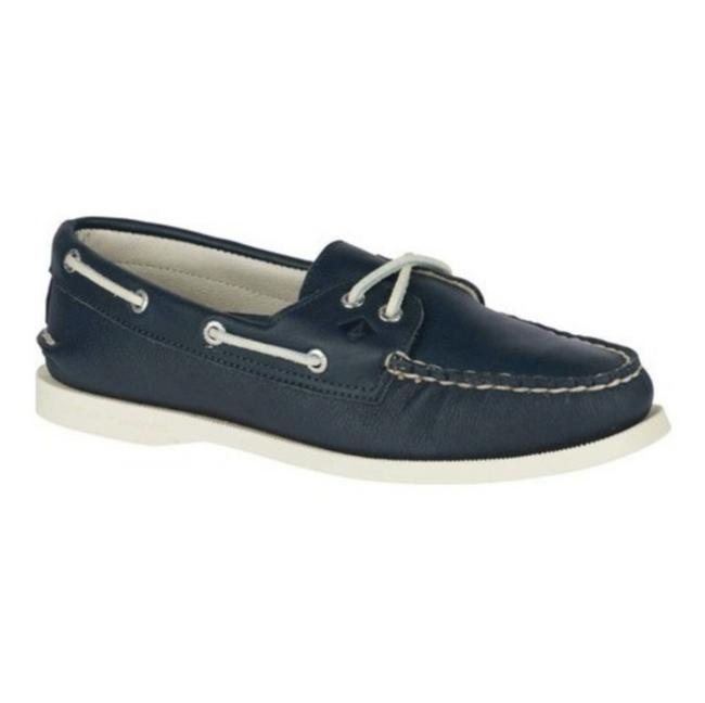 Sperry Blue and White Top-sider Navy