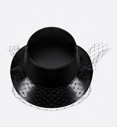 Dior Teddy D Vinyl small trim hat with veil Image 1