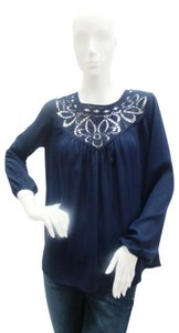 Parker Embroidered Longsleeve Top Navy