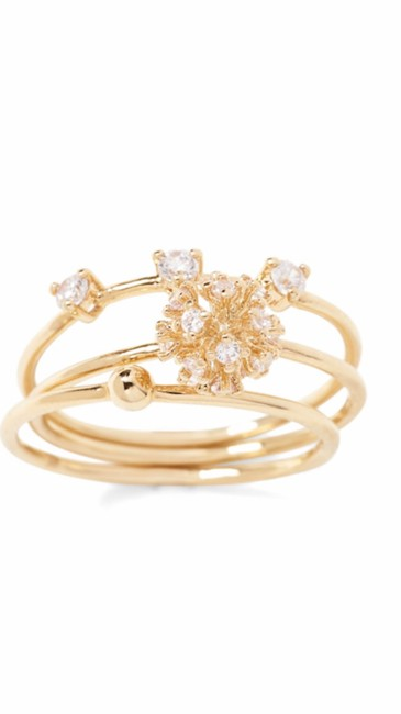 Item - Gold Delicate Fireball Stack Ring