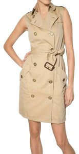 Burberry short dress Beige Natural Trench Breasted on Tradesy