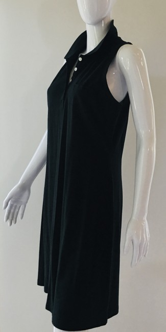 Item - Black A-line Polo Mid-length Short Casual Dress Size 8 (M)