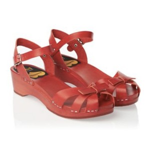 swedish hasbeens Red Sandals