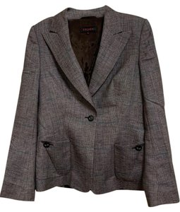 Escada Brown Plaid Blazer