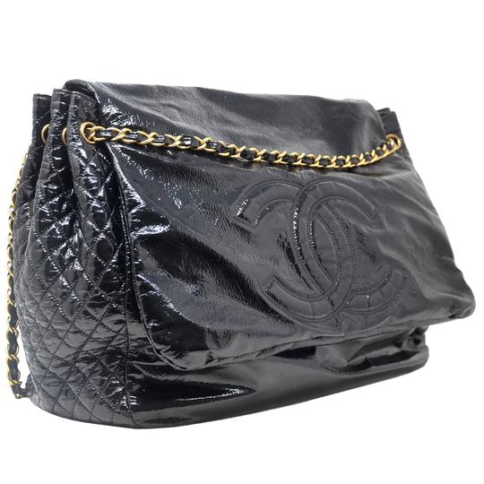 Chanel And Chain Patent Leather Leather Handbag Black Travel Bag Image 1