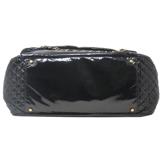 Chanel And Chain Patent Leather Leather Handbag Black Travel Bag Image 2