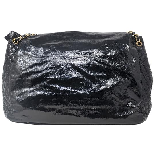 Chanel And Chain Patent Leather Leather Handbag Black Travel Bag Image 3