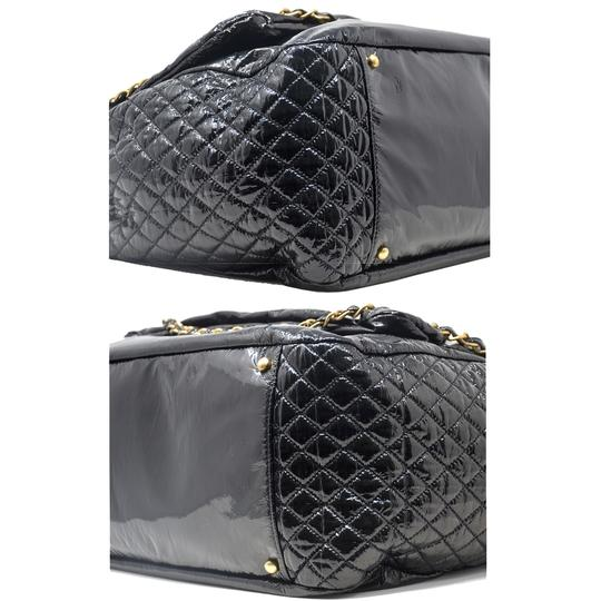 Chanel And Chain Patent Leather Leather Handbag Black Travel Bag Image 6