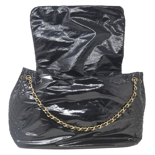 Chanel And Chain Patent Leather Leather Handbag Black Travel Bag Image 7