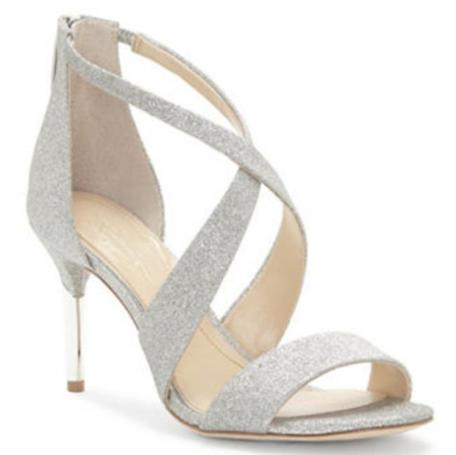 Item - Silver Imagine Pascal Stiletto Sandals Pumps Size US 7 Regular (M, B)