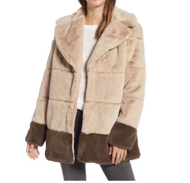 Rachel Roy Tan Brown New Colorblock Coat Size 10 (M) Rachel Roy Tan Brown New Colorblock Coat Size 10 (M) Image 1
