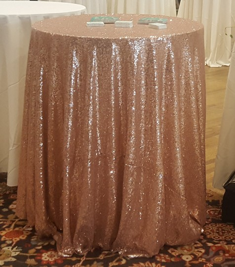 Blush Sequin Tablecloth Image 2