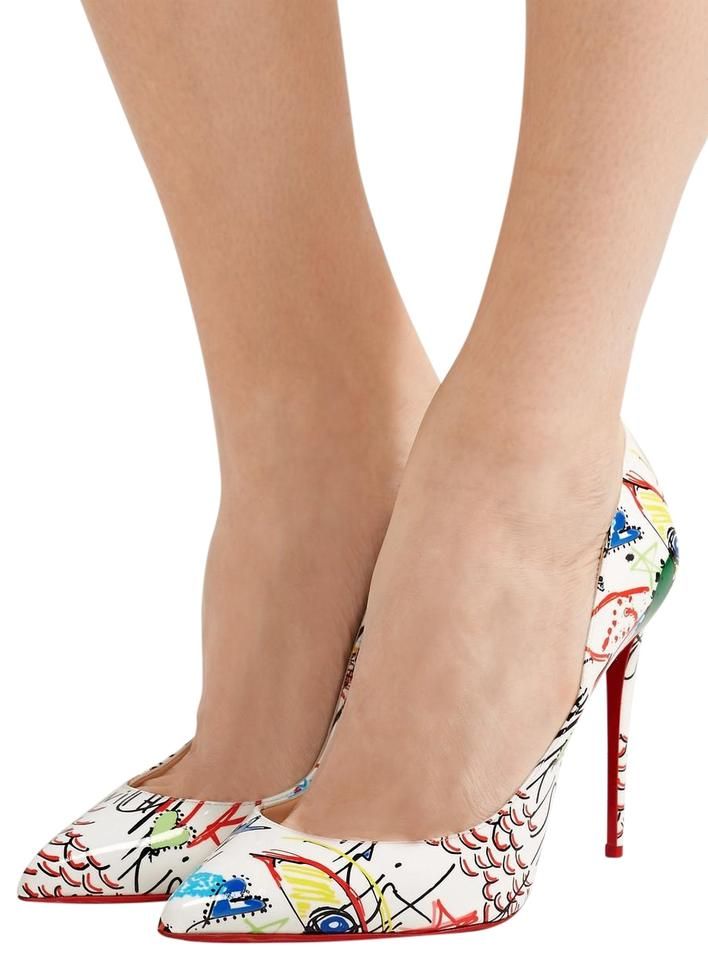 online retailer 9114c 85875 Christian Louboutin Multicolor Pigalle Follies Graffit Loubitag Patent  Pumps Size EU 38.5 (Approx. US 8.5) Regular (M, B) 10% off retail