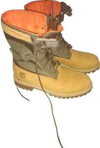 Timberland Tan and Olive Green Boots