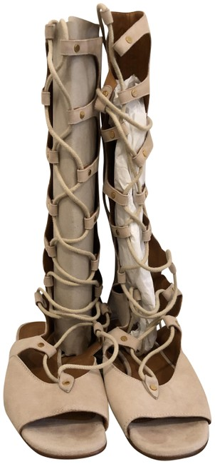 Item - Nude Gladiator Lace Up Sandals Size EU 39 (Approx. US 9) Regular (M, B)