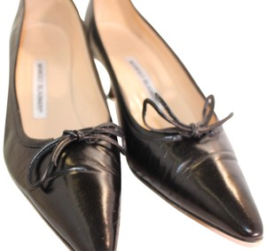 Manolo Blahnik Vintage Resort Nordstrom Rare Black Leather Formal