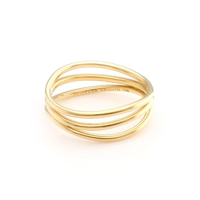 Item - 23464... Elsa Peretti 18k Yellow Gold 3 Row Wire Wave Band Ring
