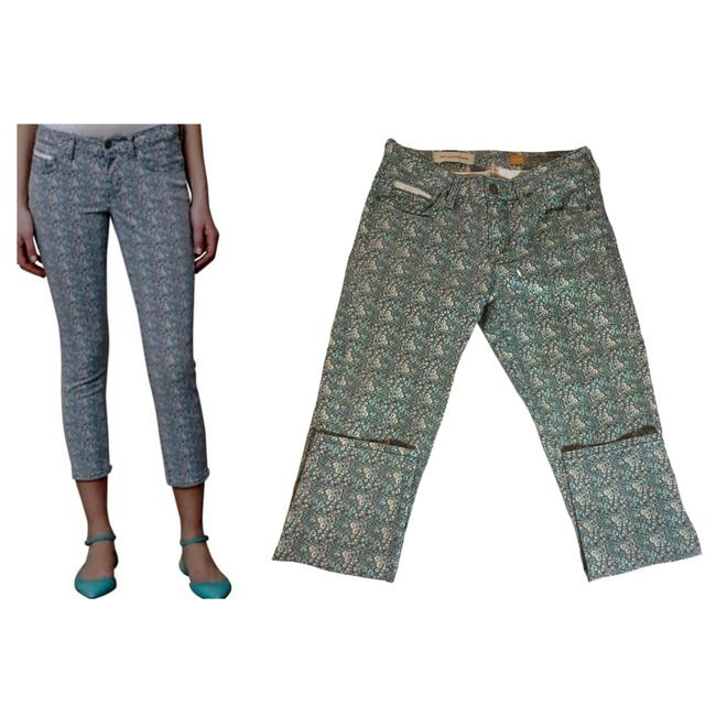 Item - Green Pilcro and The Letterpress Floral Stet Ankle Skinny Jeans Size 28 (4, S)