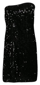 Zadig & Voltaire short dress Black Sequined Polyester Cotton on Tradesy