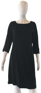 Lands' End short dress Black 3/4 Sleeve Jersey Gathered Neckline on Tradesy