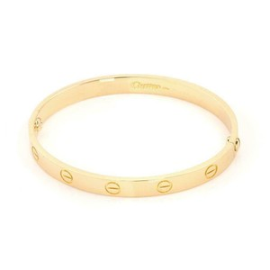 Cartier Classic 18k Yellow Gold Love Bangle Bracelet Size 17 Screwdriver Paper