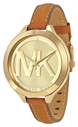 Preload https://img-static.tradesy.com/item/25851142/michael-kors-browngold-tone-new-slim-runway-mk2326-watch-0-1-540-540.jpg