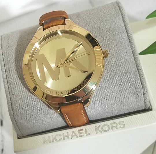 Michael Kors NEW Brown Slim Runway Watch MK2326 Image 3