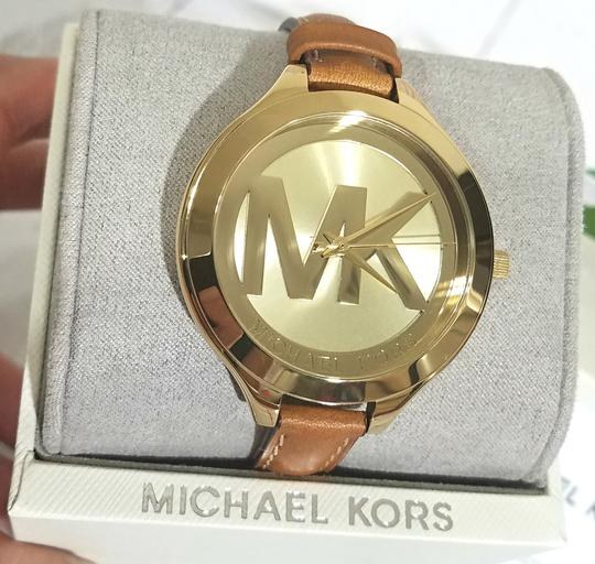 Michael Kors NEW Brown Slim Runway Watch MK2326 Image 5