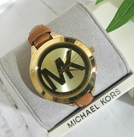 Michael Kors NEW Brown Slim Runway Watch MK2326 Image 6