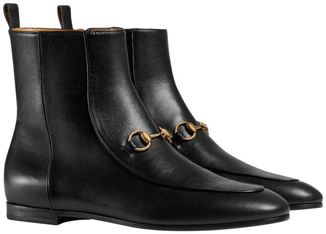 Item - Gold Black Horsebit Jordaan Leather Short Chelsea Ankle Boots/Booties Size EU 36.5 (Approx. US 6.5) Regular (M, B)