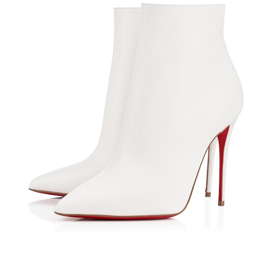 the best attitude 7c6d4 a3744 Christian Louboutin White So Kate 100 Latte Calf Leather Stiletto Heel  Ankle Boots/Booties Size EU 36.5 (Approx. US 6.5) Regular (M, B)