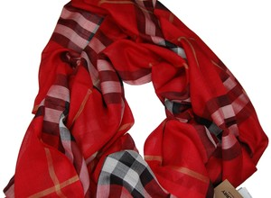 Burberry Burberry Red Vintage Check Scarf