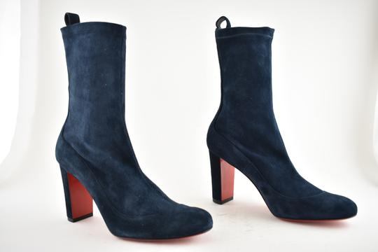 Christian Louboutin Stiletto Ankle Classic Gena blue Boots Image 3