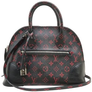 Louis Vuitton Lv Alma Infrarouge Canvas Satchel in Red And Black