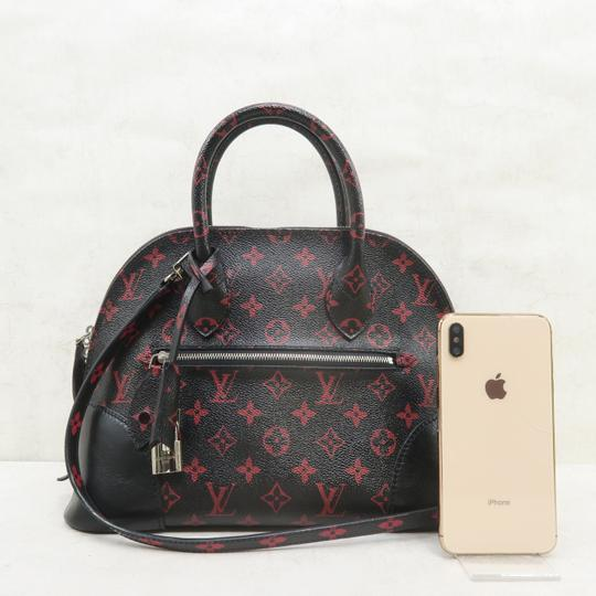 Louis Vuitton Lv Alma Infrarouge Canvas Satchel in Red And Black Image 1