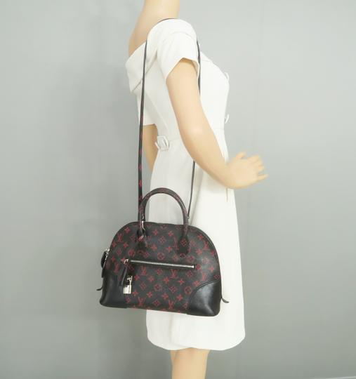Louis Vuitton Lv Alma Infrarouge Canvas Satchel in Red And Black Image 11