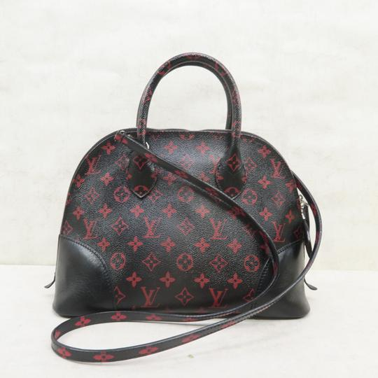Louis Vuitton Lv Alma Infrarouge Canvas Satchel in Red And Black Image 2