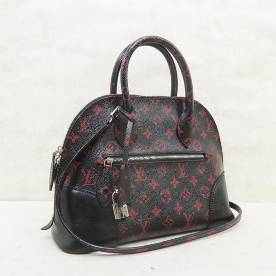 Louis Vuitton Lv Alma Infrarouge Canvas Satchel in Red And Black Image 3
