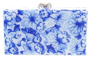 Charlotte Olympia Perspex Spider Pandora Box Blue Clutch