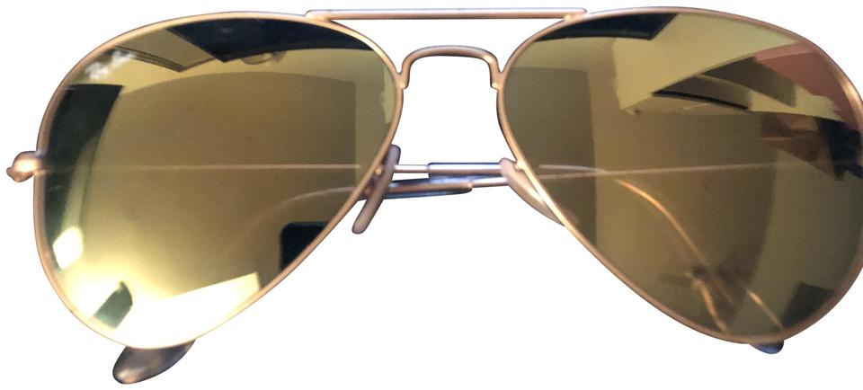 Ray Ban Aviators Green Reflective Lens Sunglasses