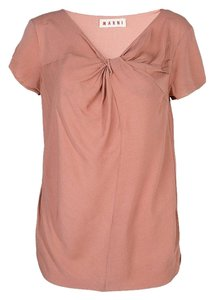 Marni Viscose Twist Top Pink