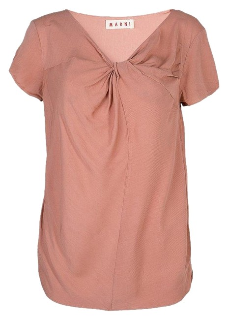 Marni Viscose Twist Top Pink Image 0