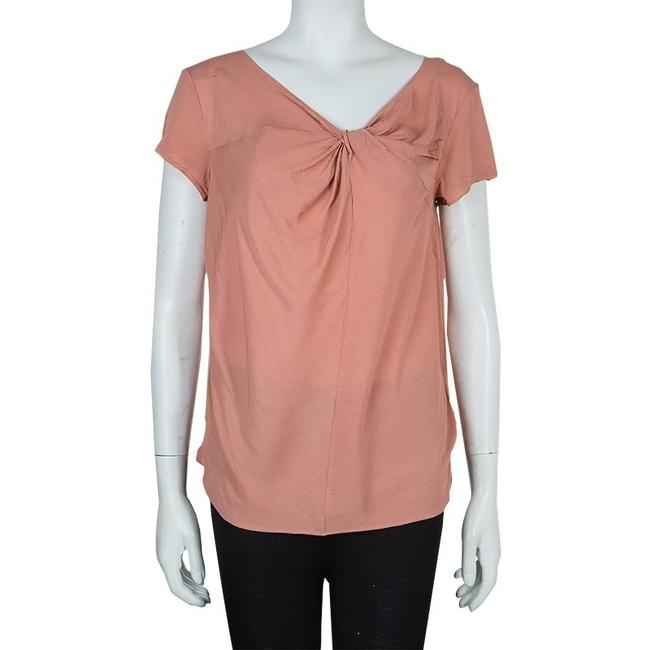 Marni Viscose Twist Top Pink Image 1