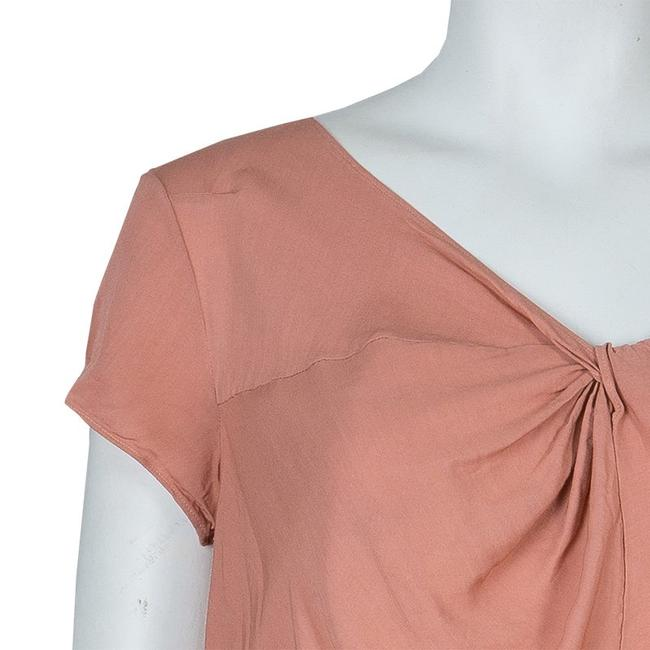 Marni Viscose Twist Top Pink Image 3