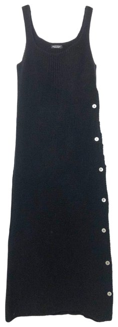 Item - Black Sweater Mid-length Casual Maxi Dress Size 4 (S)