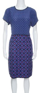 Victoria, Victoria Beckham short dress Purple Diamond Silk Jacquard on Tradesy