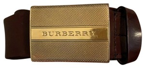 Burberry Men's Brown Leather Burberry Belt Size 36/90