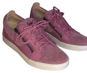 Giuseppe Zanotti Sneaker Leather Suede Pink Athletic