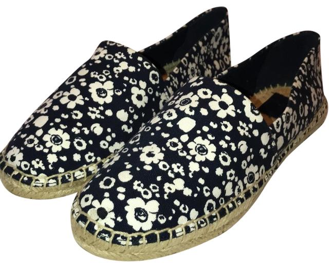 Item - Navy/Ivory 43397 Risa Espadrille Prnted. Canvas Flats Size US 8.5 Regular (M, B)
