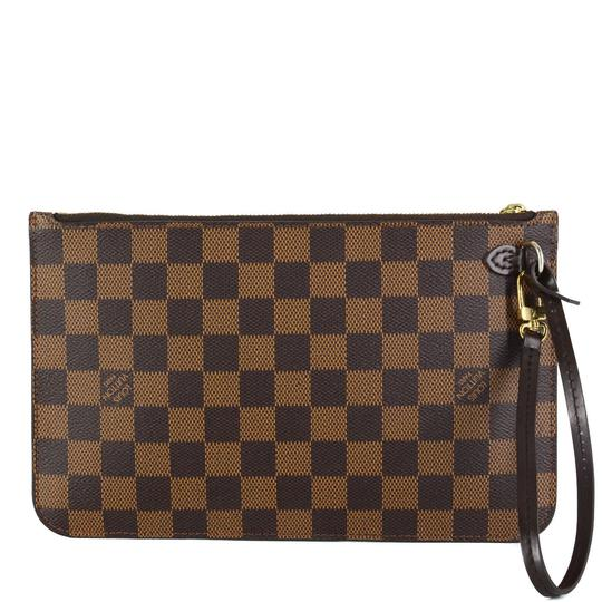 Louis Vuitton Damier Canvas Leather Classic Chic Wristlet Image 2